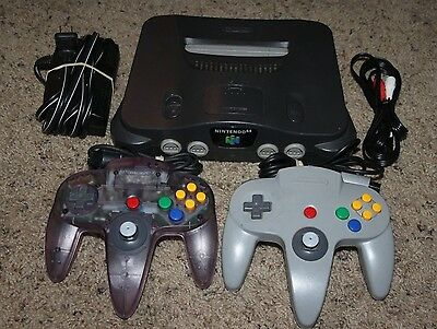 Nintendo 64 N64 Console Complete 2 Controllers (GOOD STICKS) Cords Super Bundle