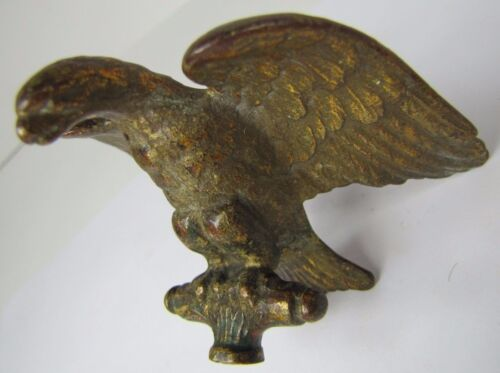Antique Bronze EAGLE Finial ornate architectural small hardware gold gilt patina