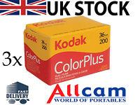 Confezione Da 3 Kodak Colorplus 35mm 36 Esposizioni Iso Pellicola Negativo - kodak - ebay.it