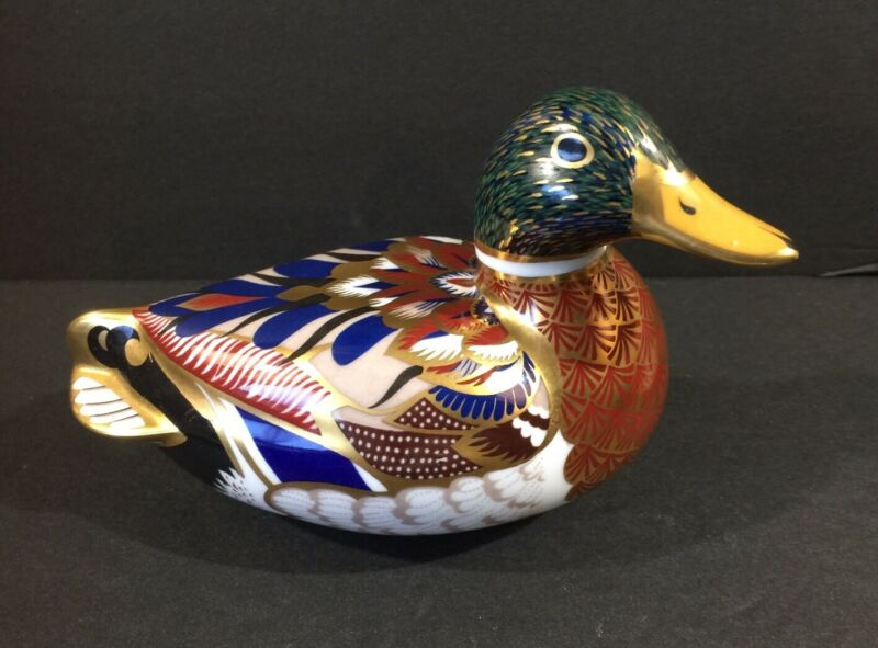 Royal Crown Derby Imari Porcelain Duck Figurine