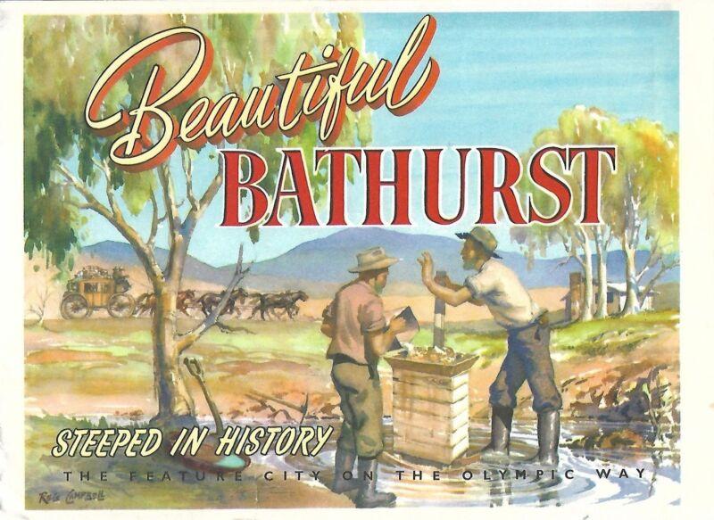 Beautiful 1960 BATHURST New South Wales Australia Photo Booklet + NRMA Road Map