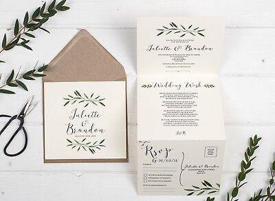 Rustic Wedding Invitation - Natural Woodland ()