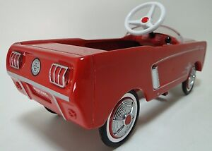 1964 Mustang Ford Vintage Pedal Car Metal Collector  -NOT Child Ride On Toy