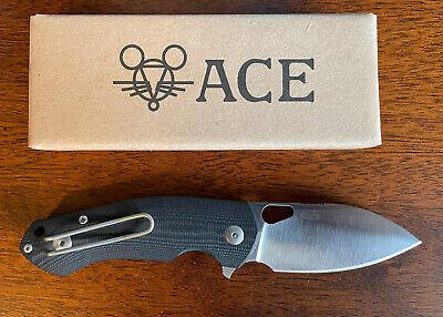 GiantMouse Ace Biblio Knife, Black G10, M390, NEW!
