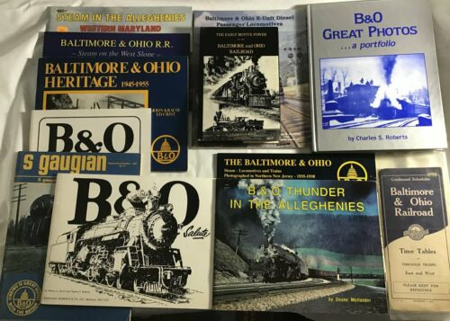 Lot of Baltimore and Ohio Railroad Books and Timetable