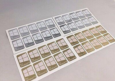 1/5/10x Windows 10 / Pro   Chrome/Gold Mirror Metal White Logo Sticker Badge USA