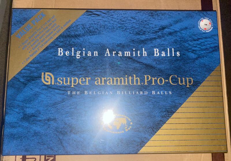 NEW TV SUPER ARAMITH PRO POOL TV BALLS - BELGIAN - FREE SHIPPING