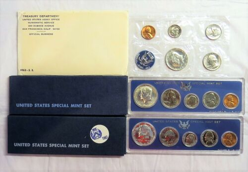 Three United States Special Mint Sets 1965 1966 1967 SMS Lot w/ Free Shipping