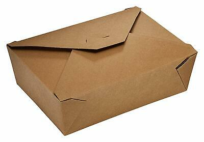 20 Pack 66 Oz. Disposable Kraft Paper Take Out Grease Resistant Food Containers