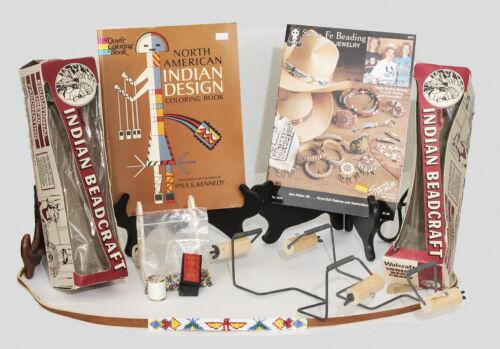 "Beadcraft ""bundle"" (2 looms/ thread/needles/2 design books/assorted beads)"
