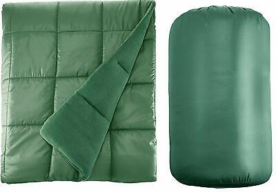 Waterproof Quilted Down Alternative Outdoor Throw Blanket 50
