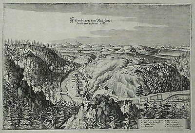 RÜBELAND Harz Eisenhütten - Merian - Kupferstich 1654