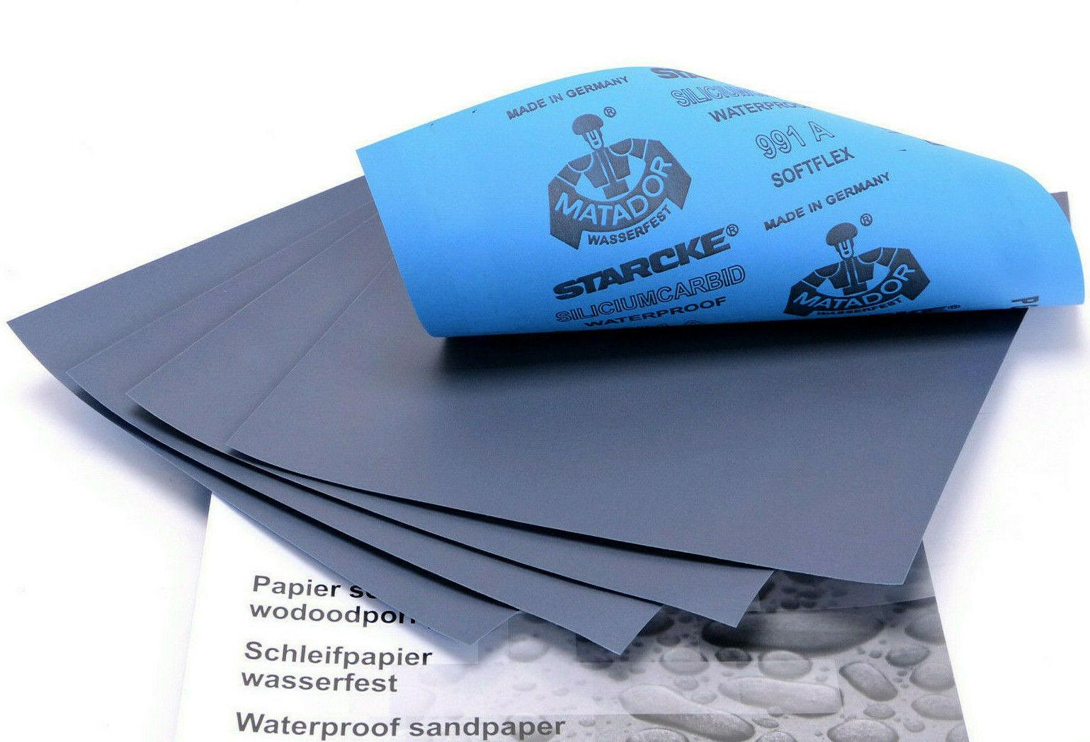 Matador Schleifpapier Wasserfest Nassschleifpapier 230mm x 280mm Lack Autolack