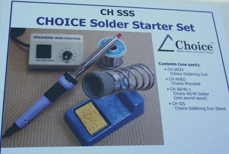 Choice Soldering Starter Kit Iron Temperature Controller rheostat stand solder