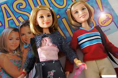MATTEL MARY KATE & ASHLEY SERIES PAJAMA PARTY TOY FASHION DOLL SET COLLECTIBLE