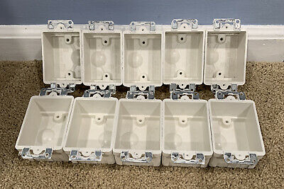 Allied Moulded 9301-e Single Gang Electrical Box 9 Cu In Lot Of 10