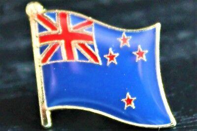 NEW ZEALAND Kiwi Country Metal Flag Lapel Pin Badge *NEW*