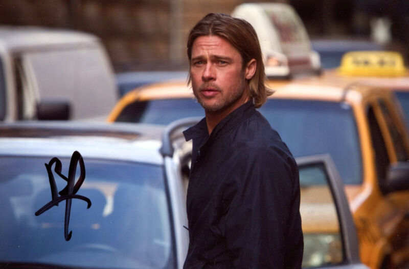 ACTOR Brad Pitt OSCAR autograph, signed photo