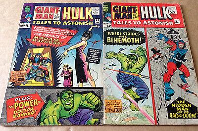 TALES TO ASTONISH # 66 & 67 (2 ISSUES) MARVEL 1965 - STEVE DITKO ART / HULK