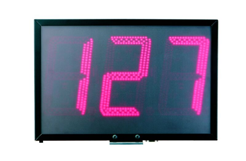 "Sports Radar Three 8"" Digits Red Led Display DL834"