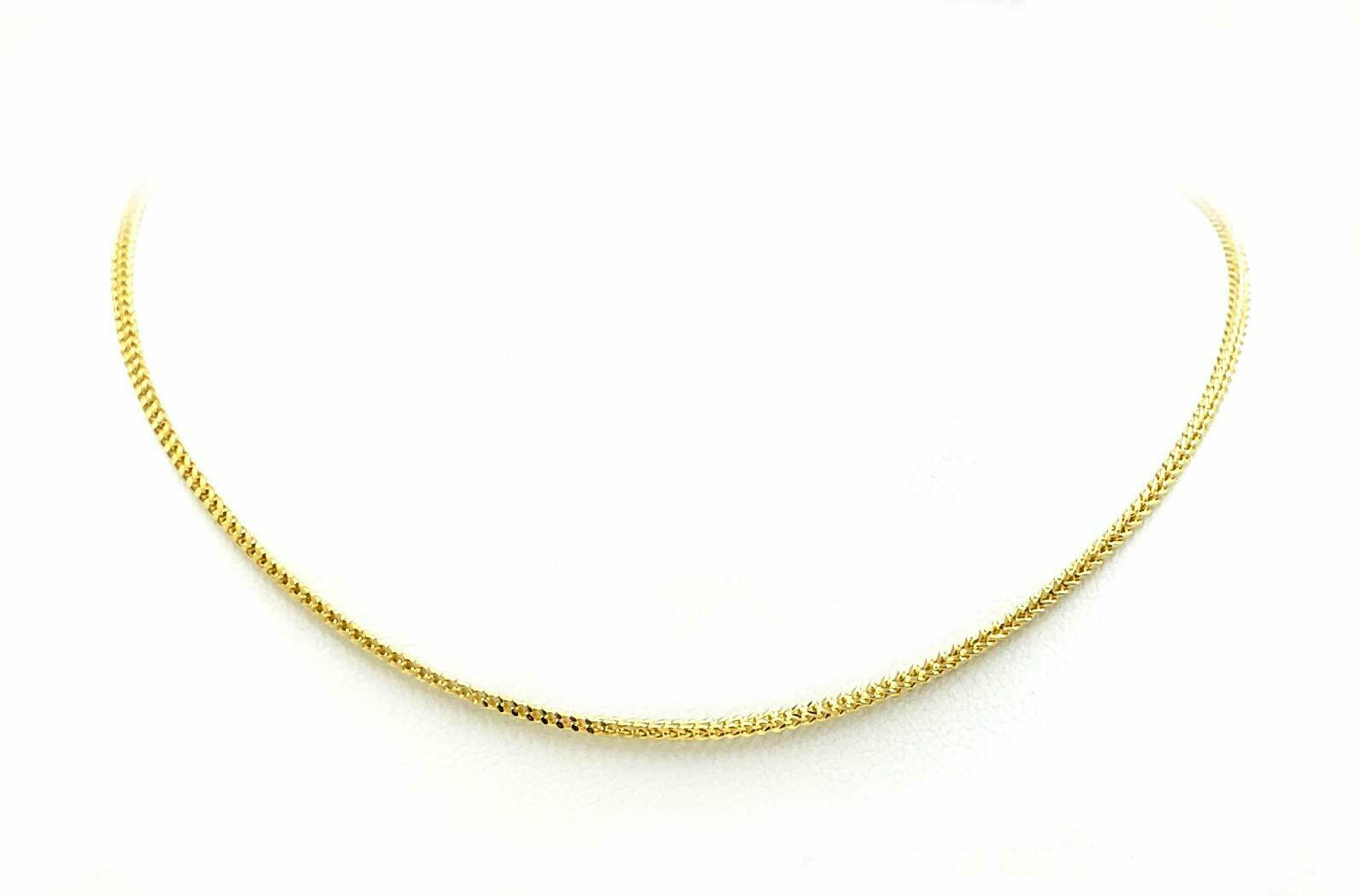 Real 10K Yellow Gold Hollow Franco Men/Women Chain/Necklace 2.0mm - 2.5mm