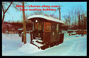Postcard-TROLLEY-Streetcar-BROOKLYN-RAPID-TRANSIT-9800-Branford-Museum-SNOW-PLOW