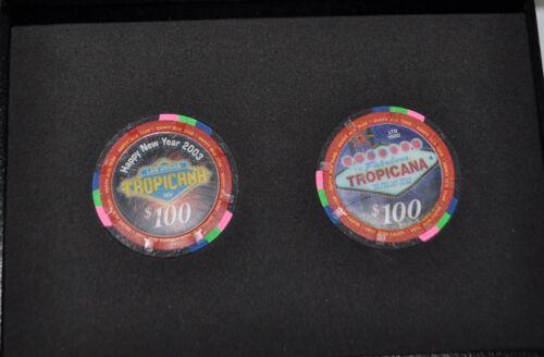 2003 LTD  Tropicana Las Vegas collectable casino chip set in case - uncirculated
