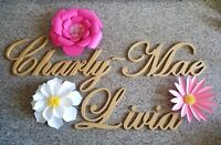 Paper Flowers and Wood script * Made to Order