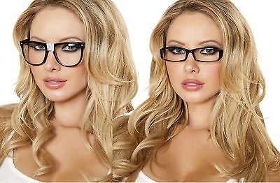 sexy ROMA nerd SECRETARY teacher LIBRARIAN adult GLASSES party COSTUME accessory - Adult Nerd Costumes