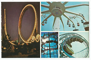 Tidal Wave Sky Whirl Willards Whizzer Marriott's Great America Vintage Postcard