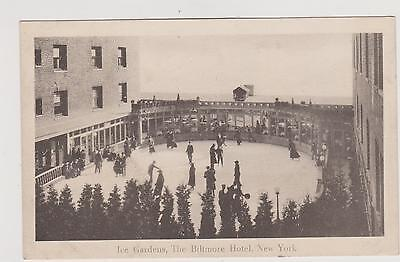 NYC HOTEL BILTMORE 1915 ICE SKATING GARDEN, MADISON & 43RD ST. NEW YORK CITY