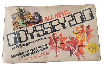Magnavox Odyssey 200 Launch Edition White Console ~ ONE OWNER ~ Untested