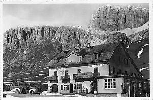 Cartolina-Postcard-Passo-Pordoi-Albergo-Maria-1955