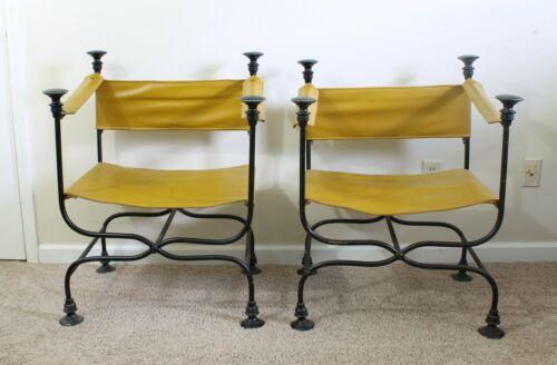 Two Vintage Savonarola / Curule Chairs