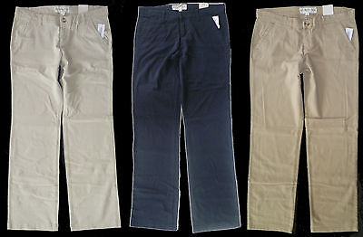 Womens AEROPOSTALE Basic Khaki Uniform Pants NWT #2028