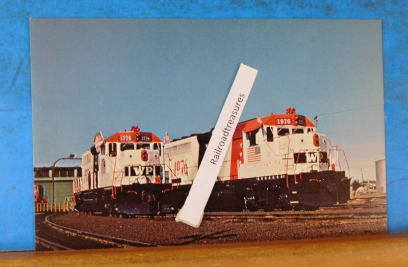 Postcard Western Pacific locomotive #1976 #1776 1976 Bicentennial Spirit of 76