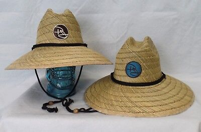 """PANAMA JACK Coastal Shade Lifeguard Hat 4"""" Brim Chin Cord S/M, L/XL #PJ142 NWT"""