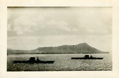1940 18th Wing airman's Hickam Field Hawaii Photo #2, USS Lexington & Saratoga