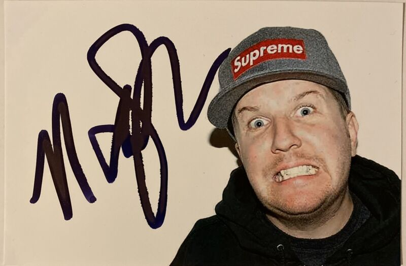 Nick Swardson Signed Autographed 4x6 Photo Actor Comedian Benchwarmers Reno 911