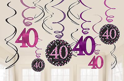 ration | Happy 40. Party Dekorationen 1-60 Teile (40-party Dekorationen)