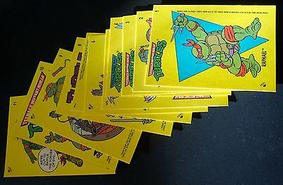 1989 Topps Teenage Mutant Ninja Turtles sticker Set of 11 TMNT