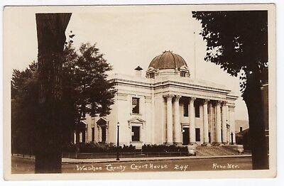 Washoe County Court House Reno, NV Nevada Antique RPPC Real Photo Postcard 1920