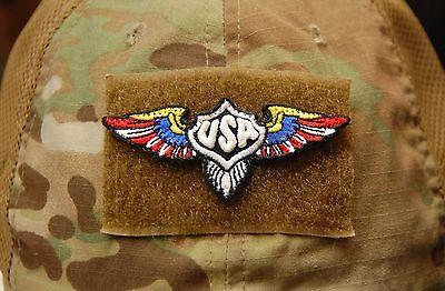 USA Patriot Wings GITD 2A American Patriot Militia Oath Keeper III% Hook & Loop