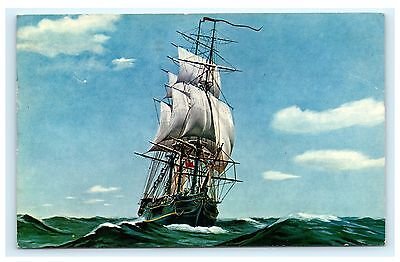The Bounty Vinoy Yacht Basin St. Petersburg Florida FL Postcard Ship Boat 1969