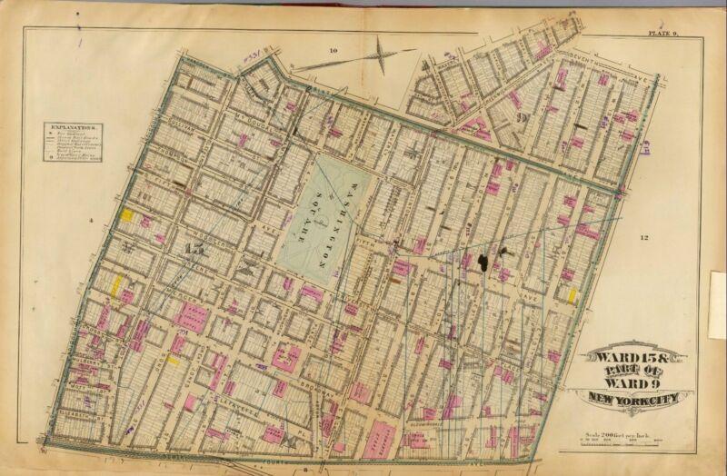 1879 NEW YORK CITY ATLAS maps GENEALOGY history LAND OWNER  DVD T3