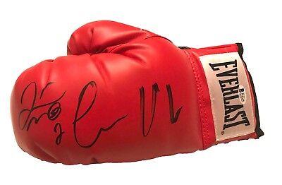 Floyd Mayweather signed black Everlast boxing glove pair auto Beckett BAS COA