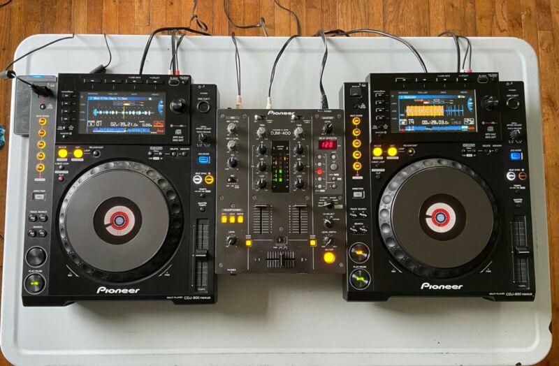 Professional Pioneer DJ Kit - CDJ-900nxs, DJM-400, and UDG Travel Cases