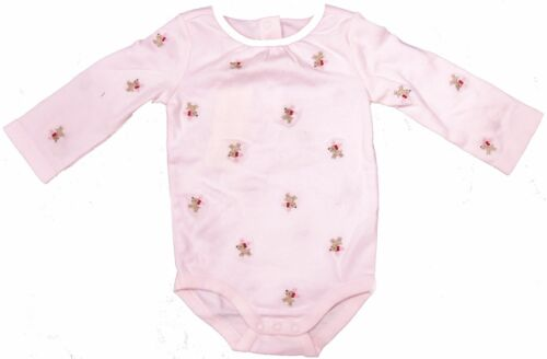 Gymboree Infant Baby Girl Reindeer Bodysuit, 3-6 Month, Red Bow, Pink Antlers