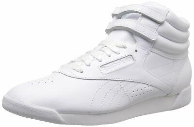 Reebok Women's Freestyle Hi Lace-Up Sneaker 7.5 White/Silver