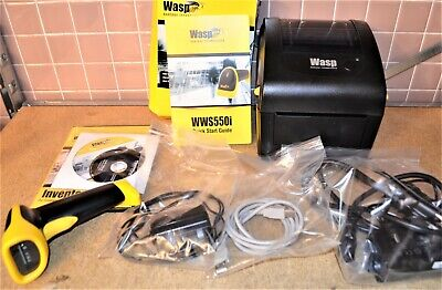 Wasp Wpl206u Barcode Printer W Barcode Scanner Software See All Pictures